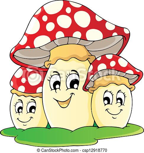 1, tema, imagem, cogumelo - csp12918770
