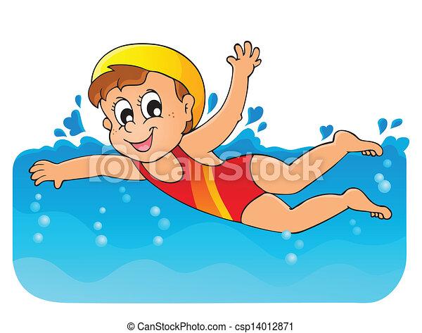 1, tema, immagine, nuoto - csp14012871