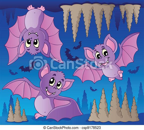 1, tema, morcegos, imagem - csp9178523