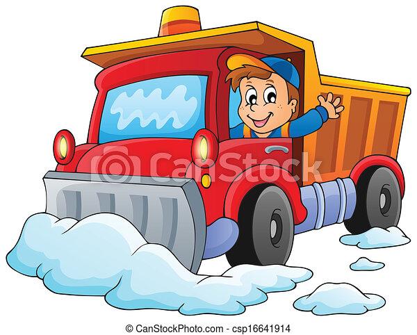 1, tema, neve, imagem, arado - csp16641914