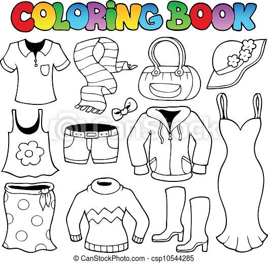 1, tema, tinja livro, roupas - csp10544285