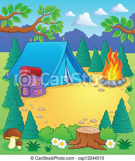 1, temat, obóz, wizerunek - csp13244510