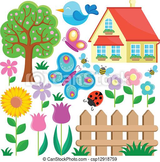 1, temat, ogród, zbiór - csp12918759