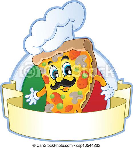 1, thème, image, pizza - csp10544282