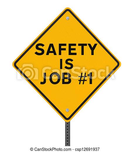 1, trabajo, seguridad, no. - csp12691937