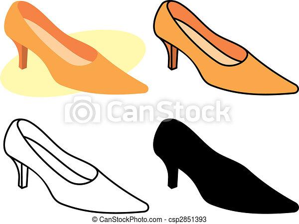 Weiblicher Schuh 1 Vektor - csp2851393