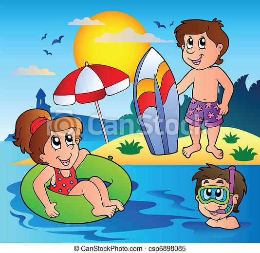 1, verão, tema, imagem - csp6898085