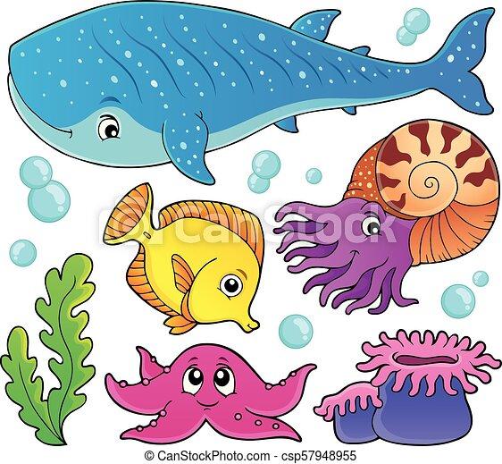 1, vie, ensemble, thème, océan - csp57948955