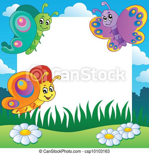 1, vlinder, frame, thema - csp10103163