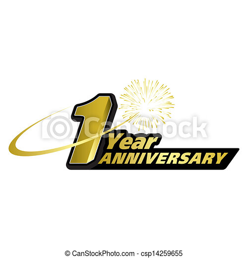 the abstract of 1 year anniversary creative concept vector https www canstockphoto com 1 year anniversary creative concept 14259655 html