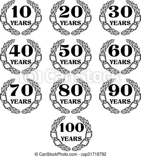 10-100 anniversary laurel wreath icon4.eps. 10-100 anniversary ...