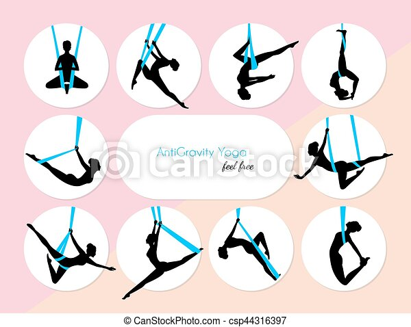 10 Anti-Gravity yoga - csp44316397