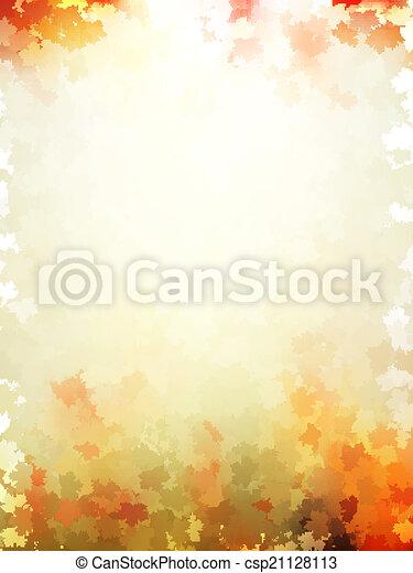 10, coloré, feuilles, pattern., eps, automne, gabarit - csp21128113