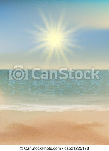 10, eps, exotique, clair, sun., mer, plage - csp21225178