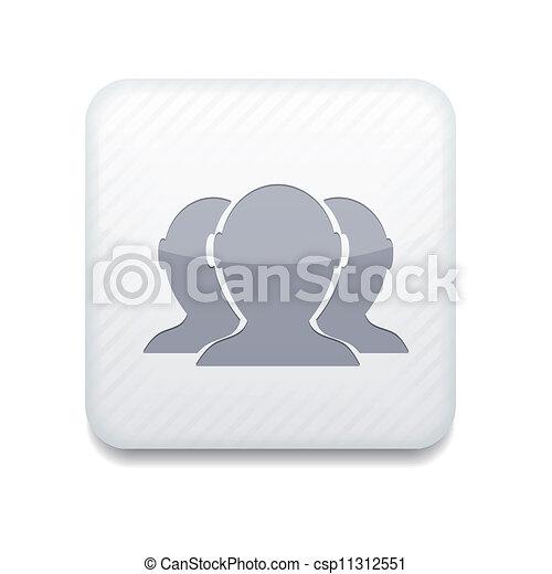 Versión del vector. Un icono de amigos. Eps 10 ilustraciones. Fácil de editar - csp11312551