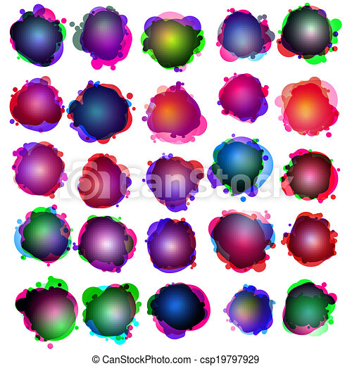 10, illustration., eps, bubbles., fala, original - csp19797929