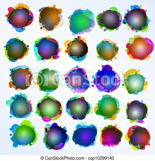 10, illustration., eps, bubbles., fala, original - csp10299140
