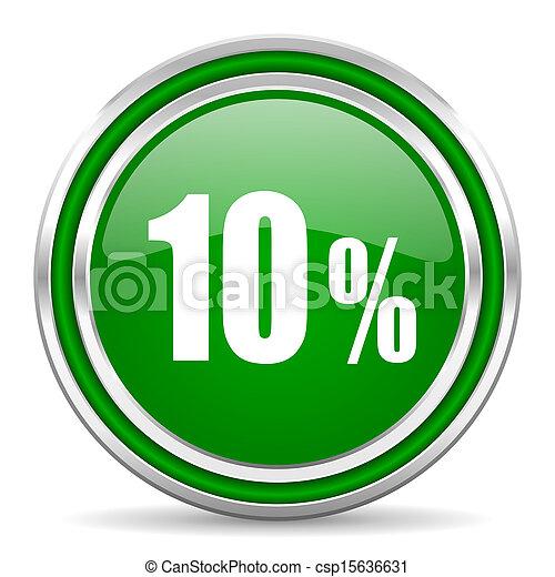 10 percent icon - csp15636631