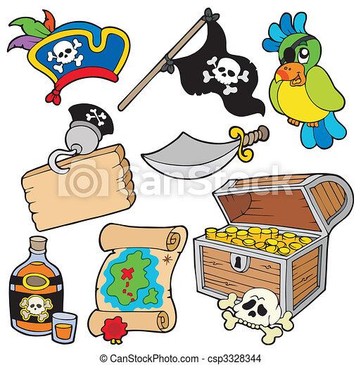 10, pirata, cobrança - csp3328344