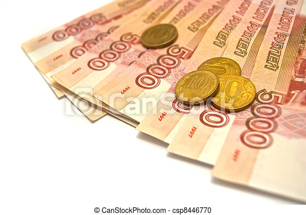 10 rubles coins and 5000 banknotes - csp8446770