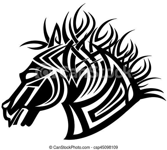 10 Testa Immagine Cavallo Illustrazione Eps