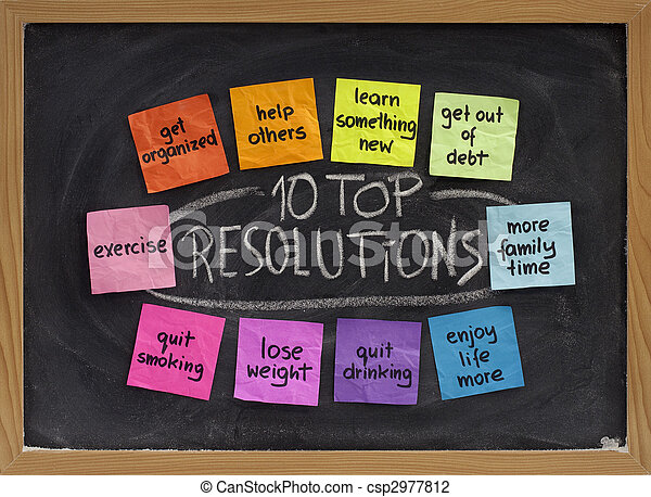 10 top new year resolutions - csp2977812