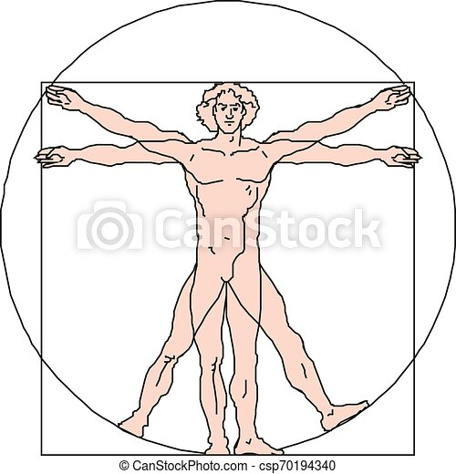 10, vitruvian, eps, illustration, vecteur, homme - csp70194340