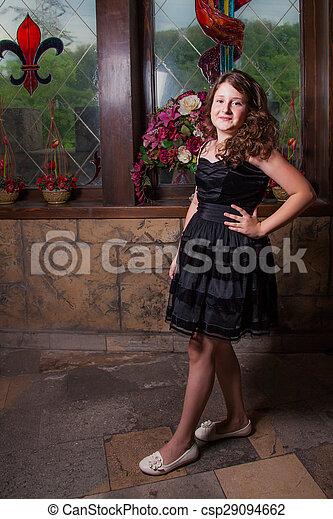 10 year old girl - csp29094662