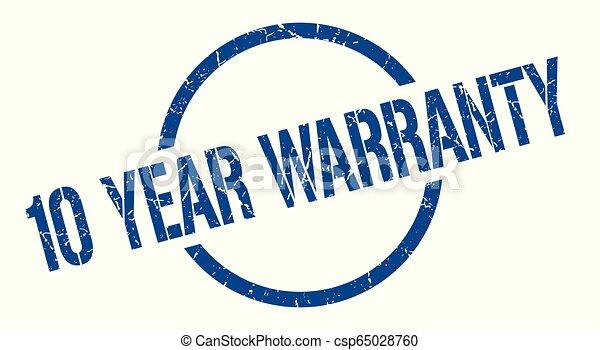 10 year warranty stamp - csp65028760