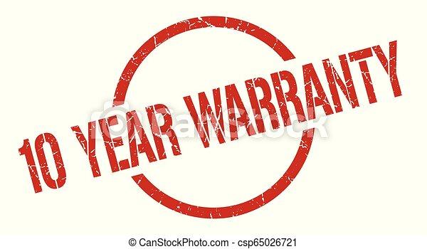 10 year warranty stamp - csp65026721