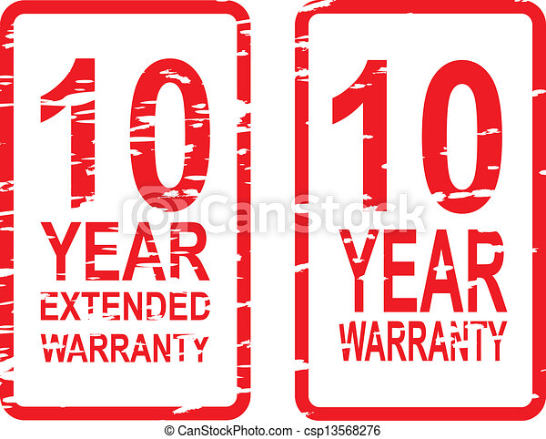 10 Year Warranty Stamps - csp13568276