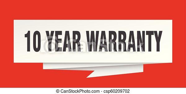 10 year warranty - csp60209702