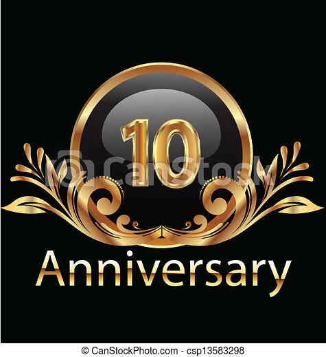 10 years anniversary birthday - csp13583298