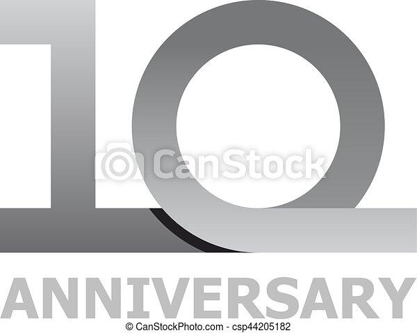 10 years anniversary number - csp44205182