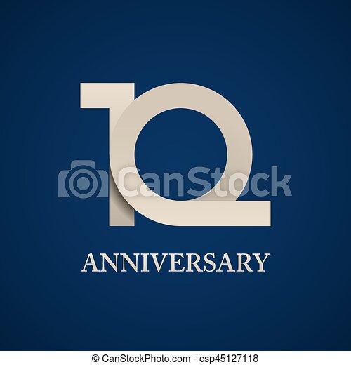 10 years anniversary paper number - csp45127118