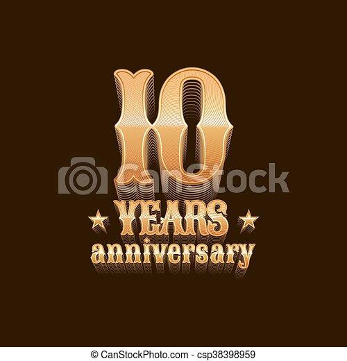 10 years anniversary vector logo - csp38398959