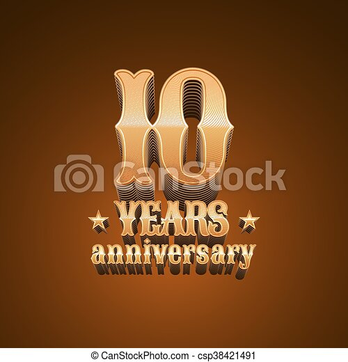 10 years anniversary vector logo - csp38421491