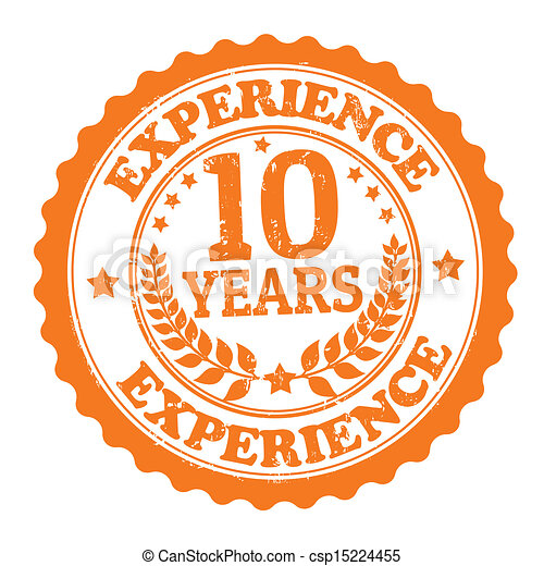 10 Years Experience stamp - csp15224455