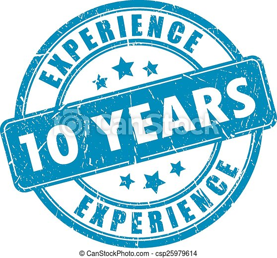 10 years experience stamp - csp25979614