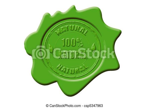 100%, cire, naturel, cachet - csp5347963