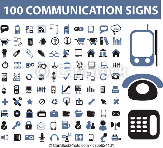 100 communication signs - csp5624131