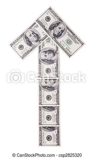 100 dollar bills - csp2825320