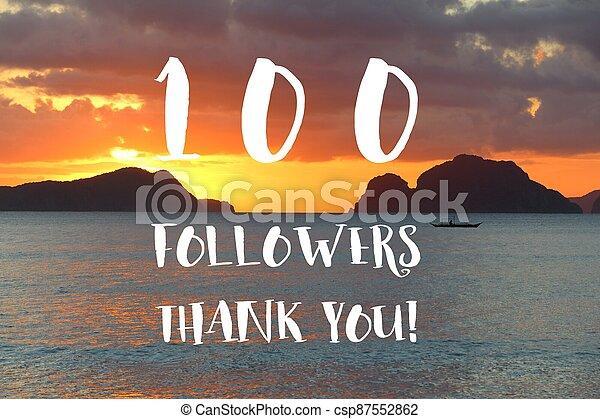 100 followers - csp87552862