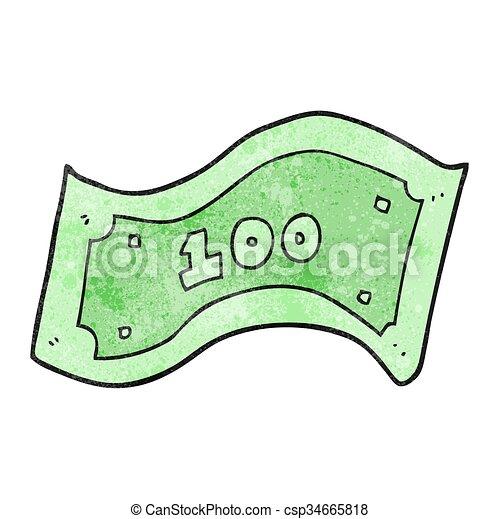 100, halabarda, dolar, rysunek, textured - csp34665818