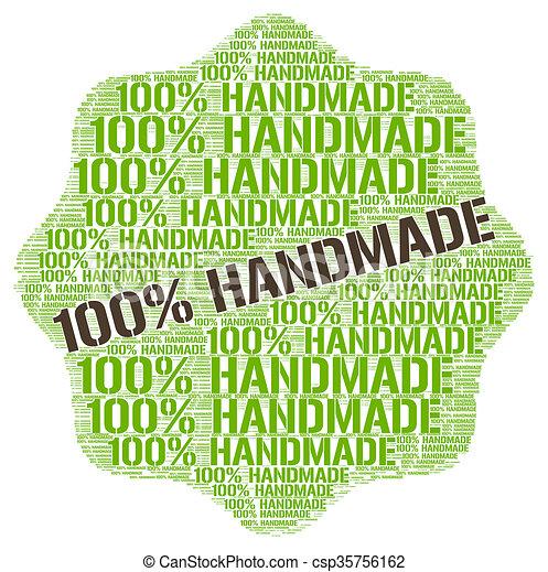 100% Handmade  - csp35756162