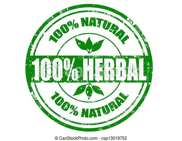 100% herbal stamp - csp13019752