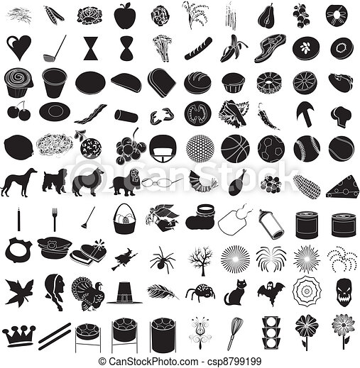 100 Icon Set 3 - csp8799199