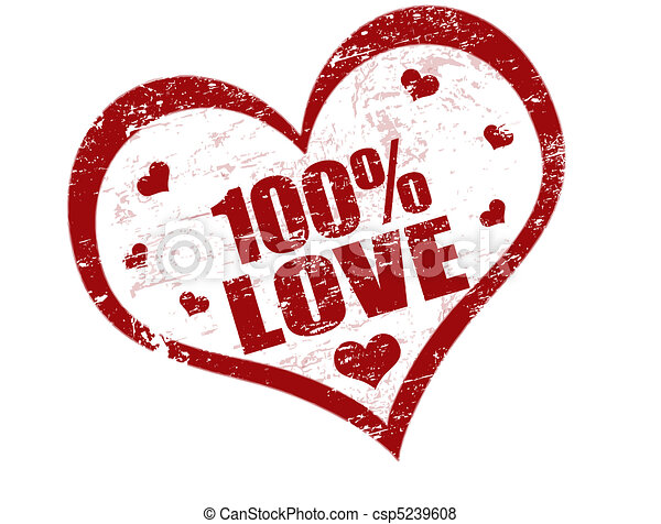 100% love stamp - csp5239608