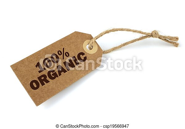 100% Organic label - csp19566947