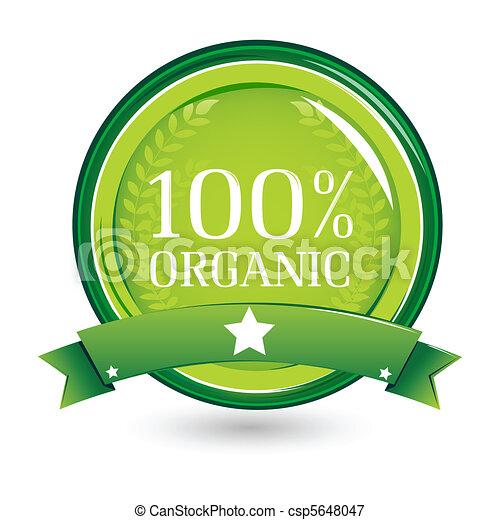 100%, organisch - csp5648047
